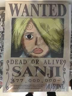 日本金貓海賊王海報 山治 one piece poster