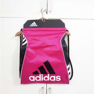 BRAND NEW Authentic Adidas Drawstring Gym Bag Hot Pink