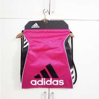 HOT PINK Adidas Authentic Drawstring Gym Bag