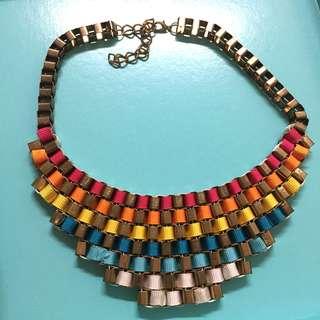 全新 超美彩虹編織金屬項鍊