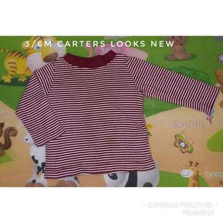 3/6m carters sweatshirt