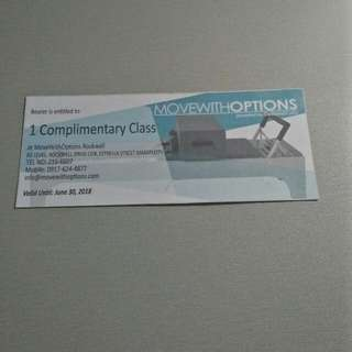 Voucher For Try Out/ Complementary Class