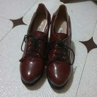 Prada 高跟鞋,36碼(棗紅色,漆皮)