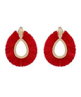 ERIN TASSEL EARRINGS - Unused Red Tassel Dangling Earrings
