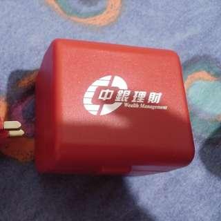 全新 中銀理財 旅行萬用轉插連USB充電頭