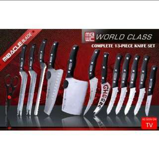 13 pieces knife set
