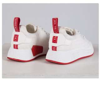 White Red Sneaker Shoes