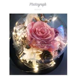 閃光LED 永生花 保鮮花