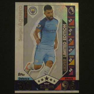 16/17 Match Attax SILVER Limited Edition - Sergio AGUERO #Manchester City 曼城