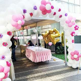 Balloon Arch and Column Decoration