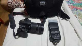 Canon 600d with 18-135 lens