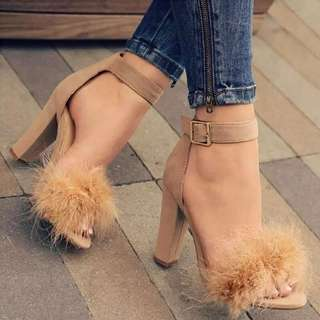 Rm38🤗🤗Furry Korea Stylish Heels(size34-43) #letgo50