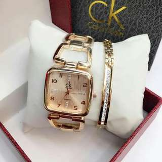 Ck Watch With Stainless  Bangle