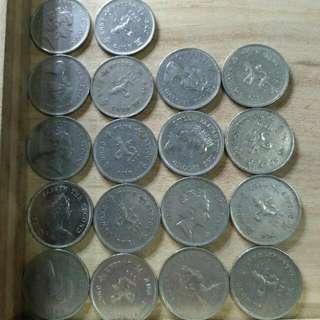 女皇壹元共有18枚