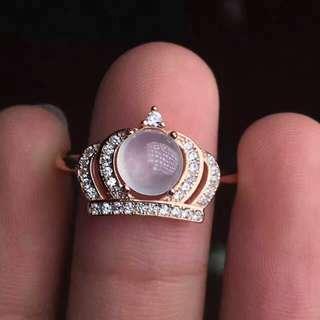 翡翠銀鑲戒指