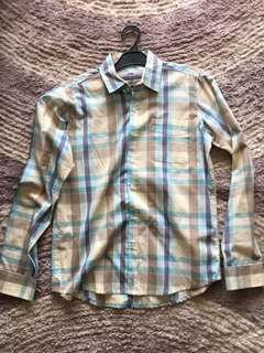 Checker skelly shirt size small
