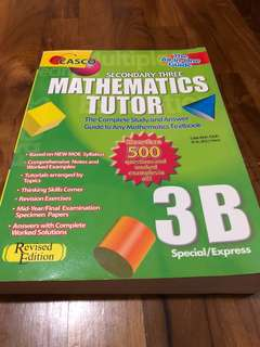 Secondary 3 Mathematics Assessment book