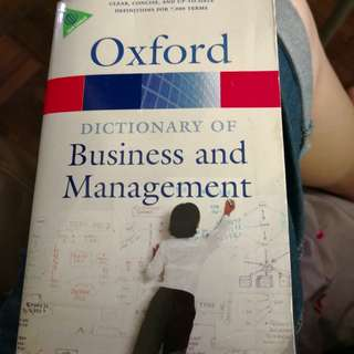 Oxford dictionary business management