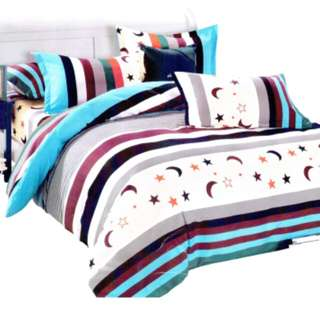4 in 1 Bedsheet with blanket and pillow cases