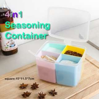 (A)4 in 1 Seasoning Container