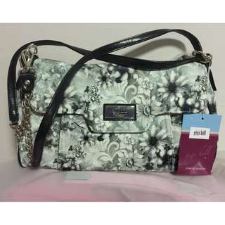 Take 2 Gigi Hills Floral Tote Handbag With Crossbody Strap/ Cosmetic Bag