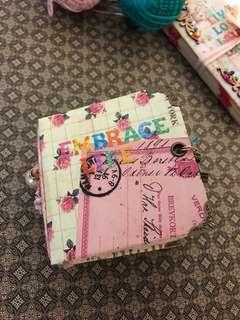 Mixed media handmade miniature art junk journal notebook