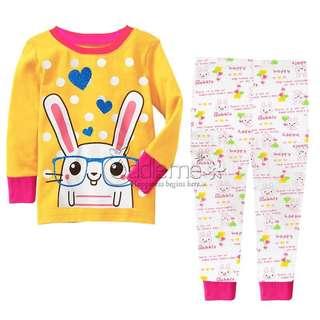 BN bunny rabbit Girl Kids Cotton Pyjamas Size 1-2yrs old , 4-5yrs old