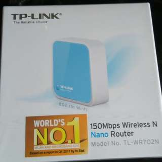 TP Link Wireless Router TL-WR702N 全新袋未開封 100% NEW