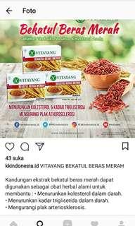 Bekatul beras merah penurun kolesterol