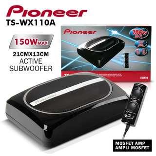 先鋒 Pioneer TS-WX110A 150W 超薄重低音 8吋車低重低音