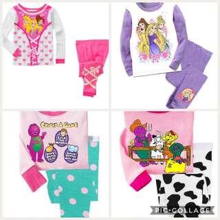 BN girl princess Barney cotton pj pyjamas 1-2yrs old