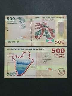 Burundi 500 Francs 🇧🇮 !!!