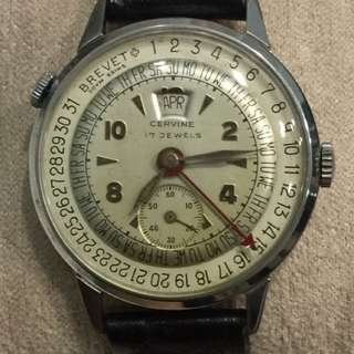 Rare Swiss Calendar Watch
