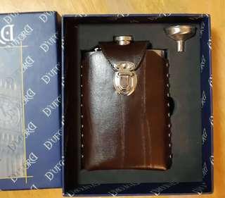 10 OZ酒壼+皮套+漏斗+禮盒 hip flask + funnel set