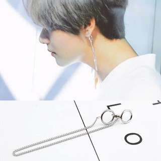 po bts taehyung dna earrings
