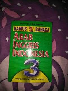Kamus 3 bahasa (arab,inggris,indonesia)