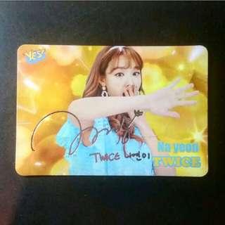 TWICE Na Yeon Yes Card
