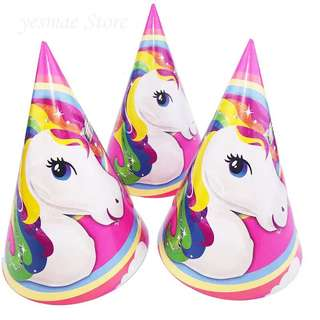 🦄Unicorn Party Supplies - party hats