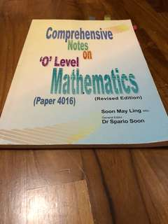 O level Mathematics Notes / Guidebook