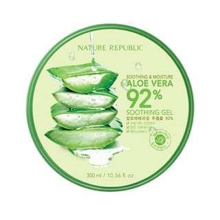 TERMURAH!!Nature republic aloe vera gel 100% ori!!