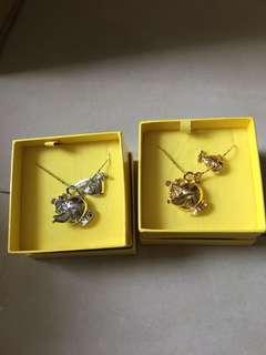 迪士尼 茶壺吊咀頸鏈 (金、銀)