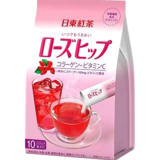 (全新訂購) 日本製造 日東紅茶 即沖薔薇果茶棒 10 條 (6 包裝)