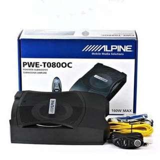 ALPINE 阿爾派 PWE-T080OC 8吋超薄型主動式重低音 內建擴大機大功率 送線組