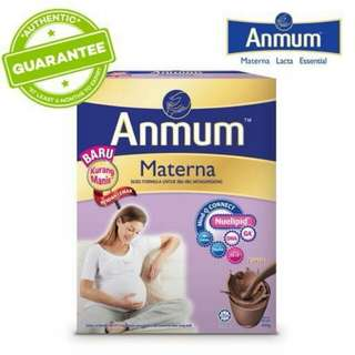 ANMUM MATERNA CHOCOLATE FLAVOUR MILK LESS SWEET 650 GRAM
