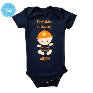 Baby Romper - Firefighter in Training