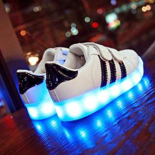 [NEW ] [PO] PROMOTION FOR MONTH OF APRIL  2018 !! RECHARGERABLE  LED SHOES FOR 4-12 YEAR OLD KIDS  !!! MANY MANY DESIGN TO CHOOSE !!! PM TO DEAL NOW PROMOTION PRICE !!!!