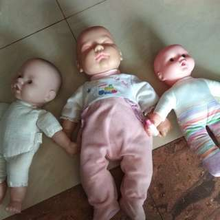 Baby doll set of 3
