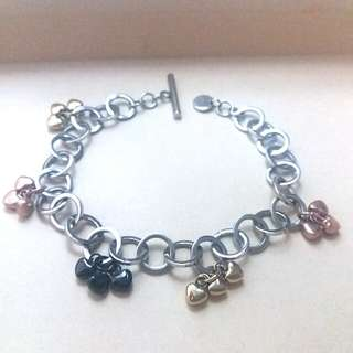 Trendy Steel Bracelet With Coloured Charms 精鋼手鍊