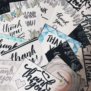 Calligraphy Cards (customisable!)