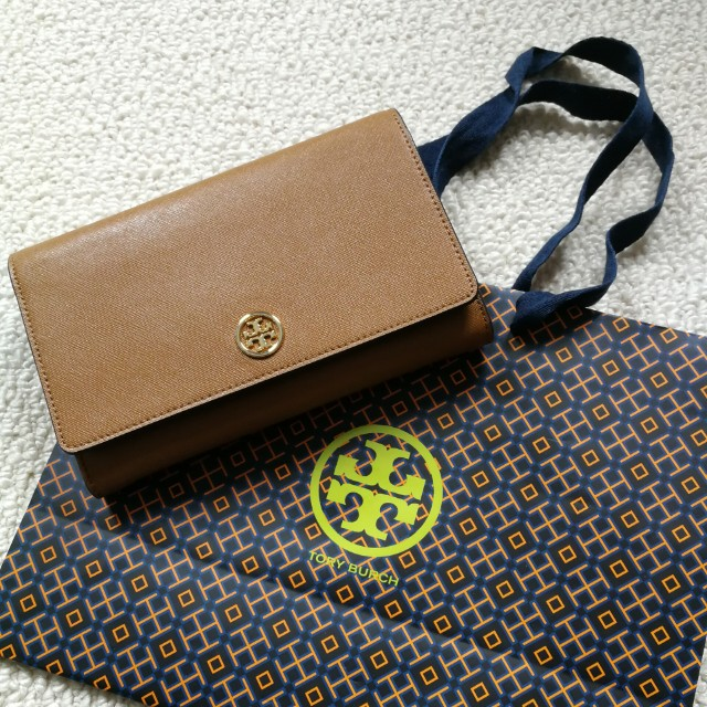 $452 NEW 100% AUTHENTIC Tory Burch Robinson Chain Leather Wallet NOT Kate Spade Kors